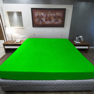 Parrot Green Stripe Fitted Sheet
