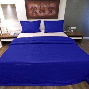 Stripe Royal Blue Duvet Cover Set