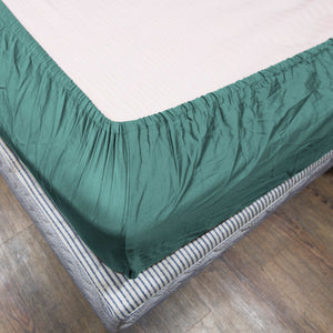 Aqua Blue Fitted Sheet Solid Sateen Comfy