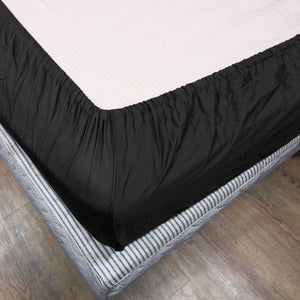 Solid Black Fitted Sheet Bliss sateen