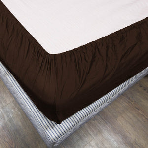 Comfy Solid Chocolate-Sateen Fitted Sheet
