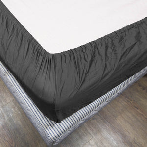 Dark Grey Bliss Solid-Sateen Fitted Sheet