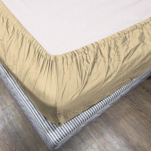 Comfy Solid Sateen Fitted sheet Ivory