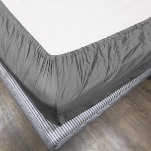 Light Grey Bliss Solid-Sateen Fitted Sheet