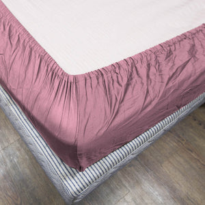 Comfy Solid Pink-Sateen Fitted Sheet