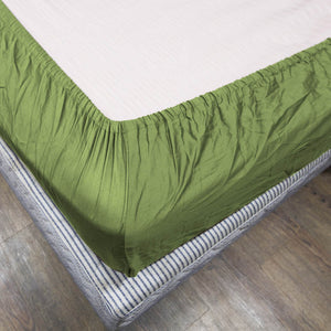 Comfy Solid Sateen Fitted sheet Sage
