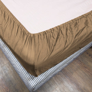 Taupe Fitted Sheet Solid Sateen Comfy