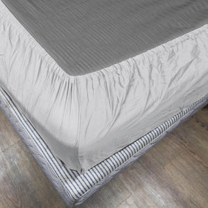 Comfy Solid White-Sateen Fitted Sheet