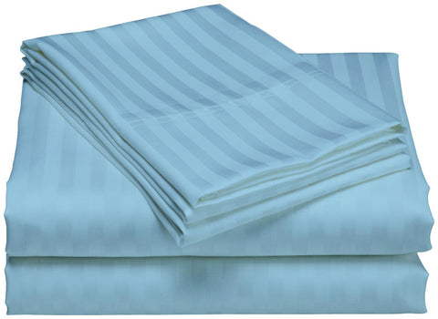 Comfy Stripe Sheet Set Light Blue Sateen - aanyalinen