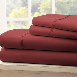 Burgundy king size bed in a bag