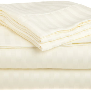 Comfy Stripe Sheet Set Sateen Ivory