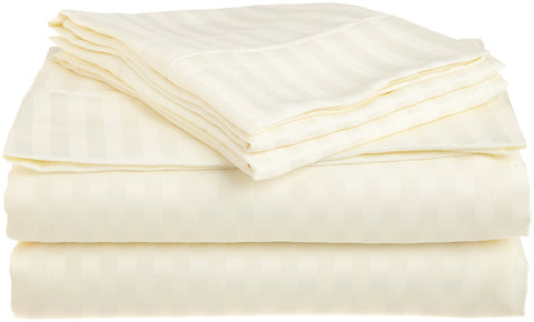 Comfy Stripe Sheet Set Sateen Ivory - aanyalinen