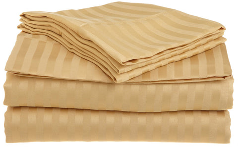 Comfy Stripe Sheet Set Gold Sateen - aanyalinen