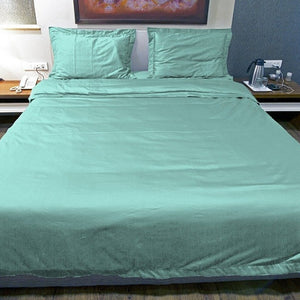 Aqua blue duvet cover set
