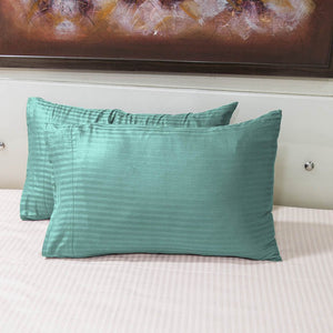 Aqua Blue Stripe Pillowcase