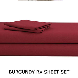 Burgundy RV Sheet Set