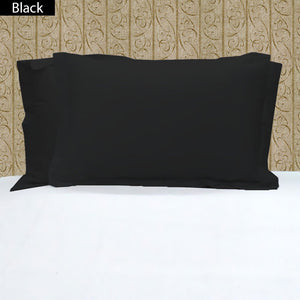 Black Pillow Shams Solid Bliss Sateen