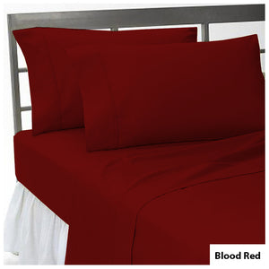 Comfy Flat sheet and Pillowcase Sateen Solid Blood Red