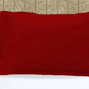 Red Pillow Shams Solid Comfy Sateen