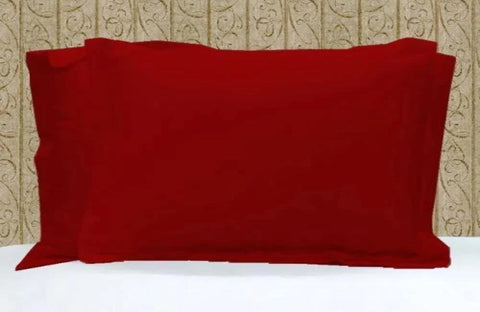Luxury Comfy Sateen Pillowcase Solid in Blood Red - aanyalinen