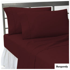 Comfy Flat sheet and Pillowcase Sateen Solid Burgundy