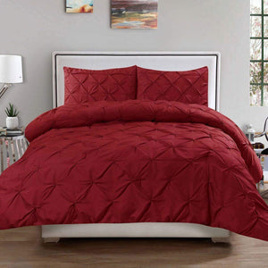 Burgundy Pintuck Duvet Cover