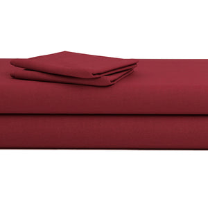 Burgundy Bed Sheets Set Bliss Sateen Solid