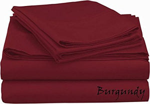 Sateen Sheet Set With Extra Pillowcase-Comfy Solid Burgundy