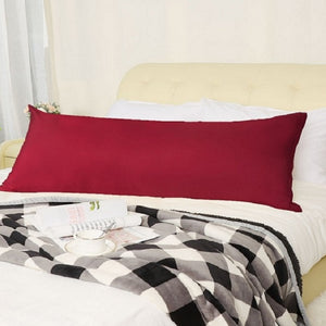 Burgundy body pillow cover