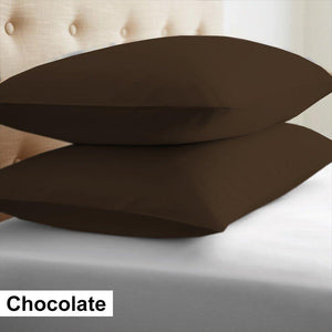 Chocolate brown euro shams