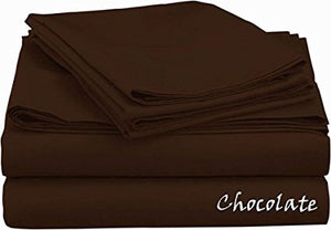Sateen Sheet Set With Extra Pillowcase-Comfy Solid Chocolate