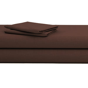 Chocolate Bed Sheets Set Bliss Solid