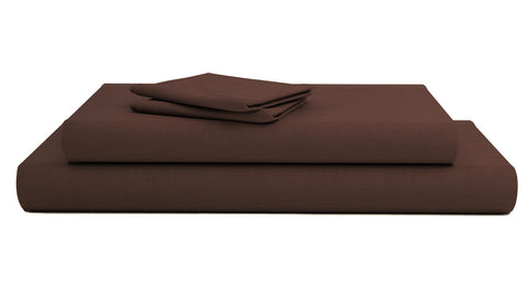 Comfy Solid Sateen Sheet Set Chocolate