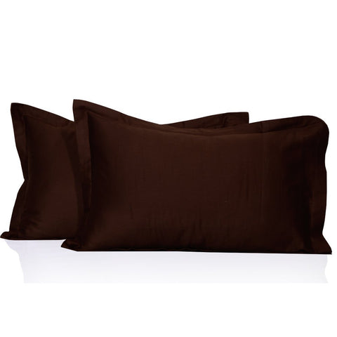 Luxury Comfy Sateen Pillowcase Solid in Chocolate - aanyalinen
