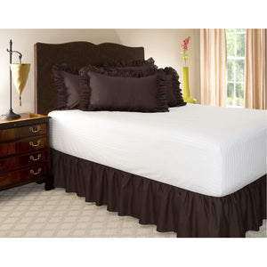 Chocolate gathered bed skirt