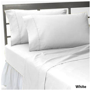 Comfy White Flat Sheet with Pillowcase