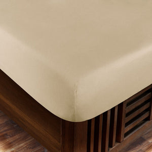 Ivory Bliss Solid-Sateen Fitted Sheet
