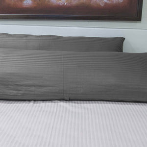 Dark Grey Stripe Body Pillow Cover
