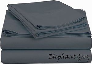 Sateen Sheet Set With Extra Pillowcase-Comfy Solid Dark Grey