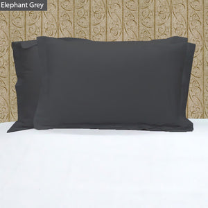 Dark Grey Pillow Shams Solid Bliss Sateen