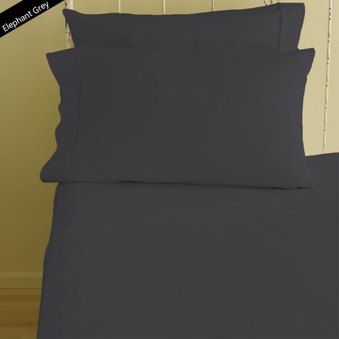 Bliss Solid Fitted and Pillowcase Sateen Dark Grey - aanyalinen