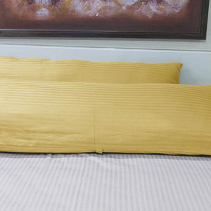 Gold Stripe Body Pillow Cover