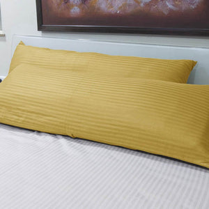 Gold Striped Body Pillow Cover
