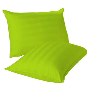 green stripe euro sham