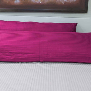 Hot Pink Stripe Body Pillow Cover