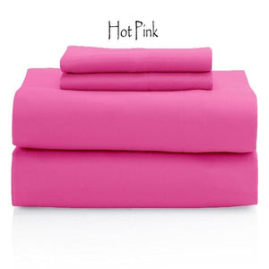 Hot Pink Comfy Solid Sateen Sheet Set