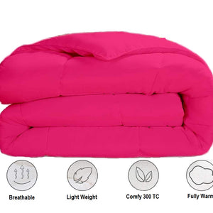 hot pink cotton comforter