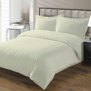 Ivory Duvet Set with Flat Sheet