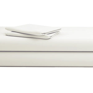 Comfy Solid Sateen Sheet Set Ivory