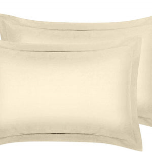 Ivory Pillow Shams Solid Bliss Sateen
